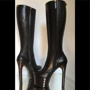 Gucci Runway Black Angel Platform Tall Boots $1900